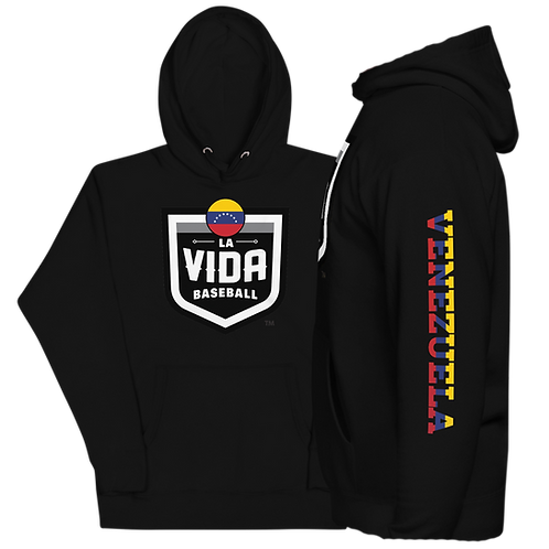 VENEZUELA La Vida Baseball - Country Crest Unisex Premium Hoodie