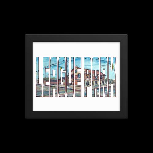 League Park by Andy Brown - Giclée-Print Framed