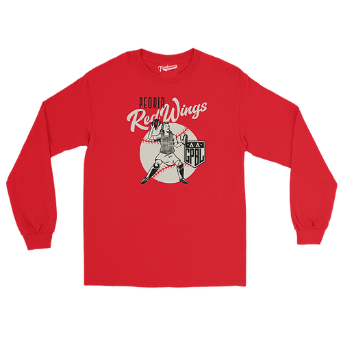 Diamond - Peoria Redwings - Unisex Long Sleeve Crew T-Shirt