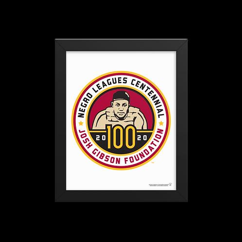 Josh Gibson Foundation Centennial Logo by Todd Radom - Giclée-Print Framed