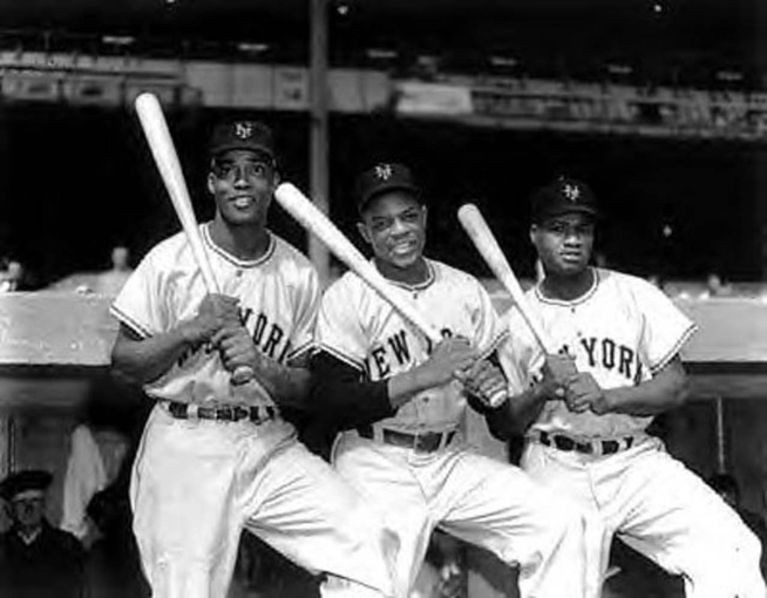 In 1951, Hank Thompson, Monte Irvin and Willie Mays formed the 1st all-black outfield in MLB