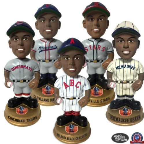 Set of Five - Negro Leagues Vintage Bobbleheads - Gold Base (PRESALE)