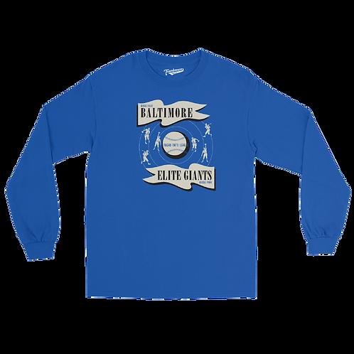 NNL Baltimore Elite Giants - Unisex Long Sleeve Crew T-Shirt