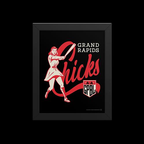 WOTD Grand Rapids Chicks by Gary Cieradkowski - Giclée-Print Framed