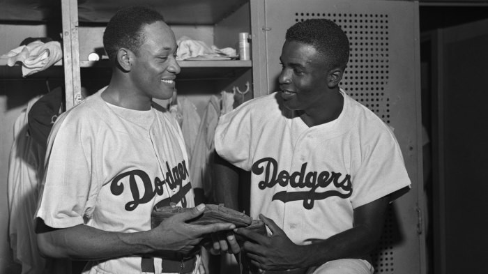 Dan Bankhead and Jackie Robinson in the 1947 World Series vs. the New York Yankees