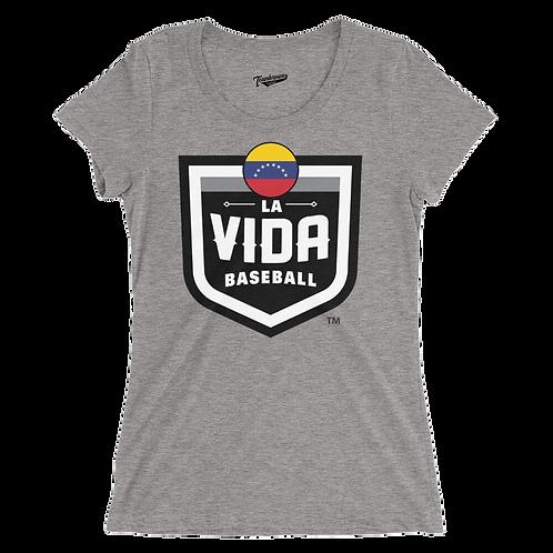 VENEZUELA La Vida Baseball Country Crest Women's T-Shirt