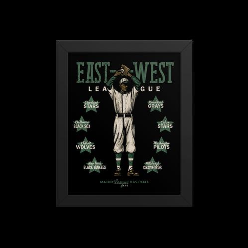 East West League - Giclée-Print Framed