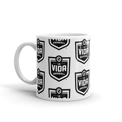La Vida Baseball Wallpaper Logo 11oz Mug