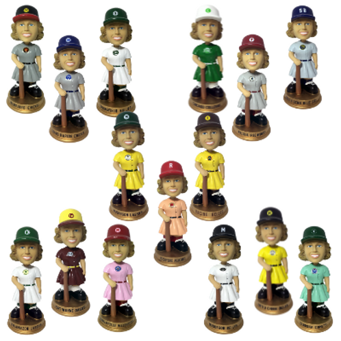 Full Set of AAGPBL Vintage Bobbleheads