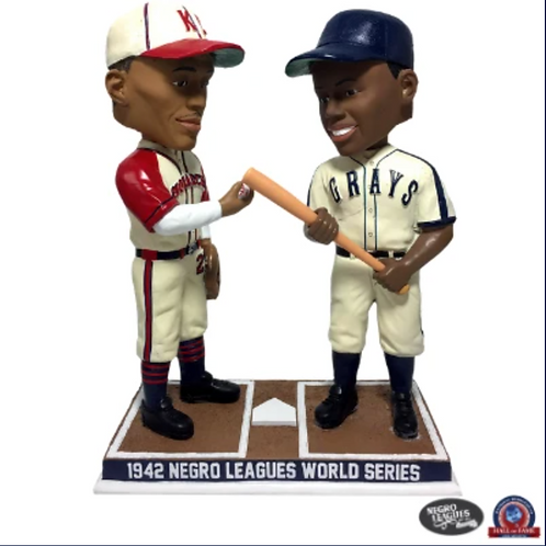 1942 Negro Leagues WS - Satchel Paige and Josh Gibson Bobblehead