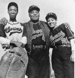 Indianapolis Clowns from 1954 - King Tut, Oscar Charleston and Connie Morgan Morgan played with the Clowns for 2 years.