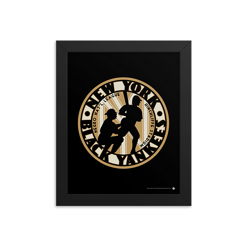 NNL New York Black Yankees by Gary Cieradkowski - Giclée-Print Framed