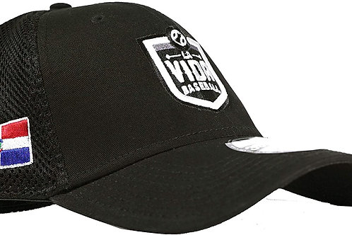 La Vida Baseball - Fitted Hat with Dominican and NBHOFM Logos