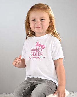Middle Sister - Bow - Toddler T-Shirt (Wholesale)
