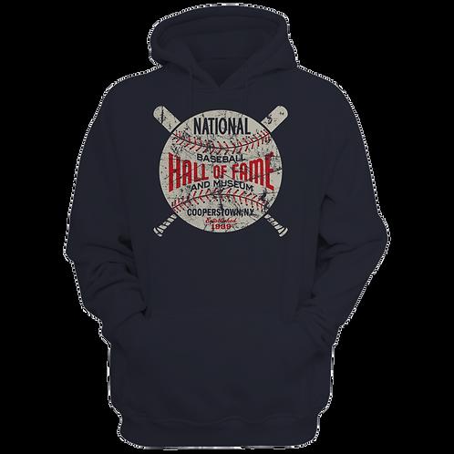 Baseball Hall of Fame Circle Logo - Unisex Premium Hoodie