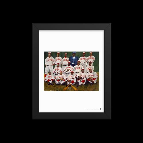 Chicago American Giants by Dane Tilghman - Giclée-Print Framed