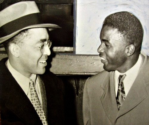 Wendell Smith and Jackie Robinson