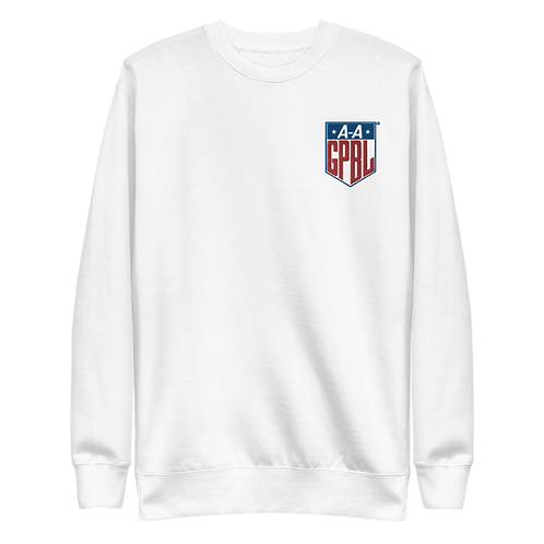 AAGPBL - Embroidered Fleece Pullover Crewneck