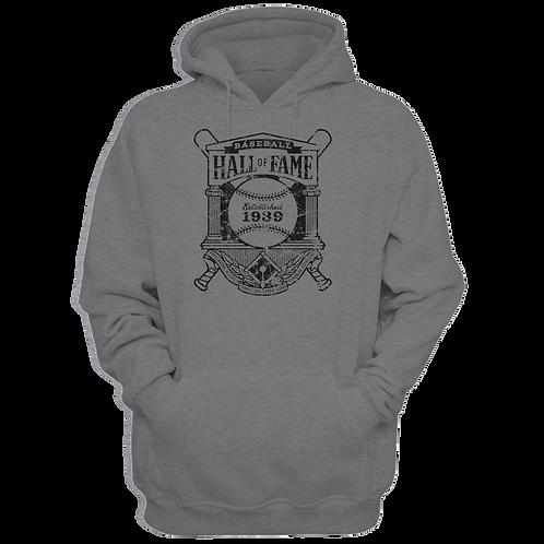 Baseball Hall of Fame Crest Logo - Unisex Premium Hoodie
