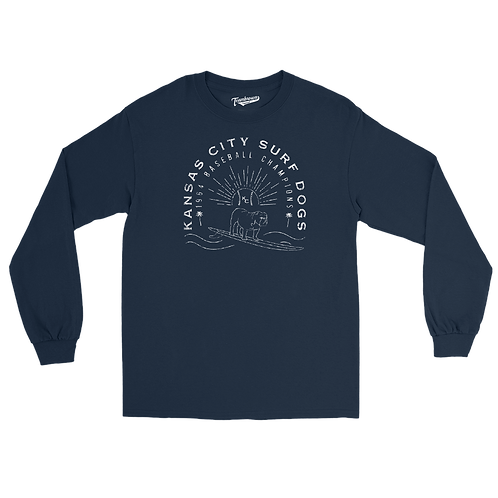 Kansas City Surf Dogs (Original) - Unisex Long Sleeve Crew T-Shirt