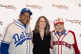"Pedro Sierra, Lauren Meyer, Jim Robinson at premiere of ""The Other Boys of Summer"""