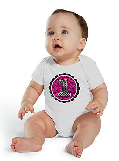 Zebra & Dots 1st Birthday - Infant Onesie