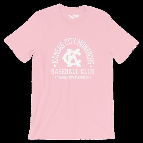 1924 Champions - Kansas City Monarchs - Unisex T-Shirt - Breast Cancer Awareness