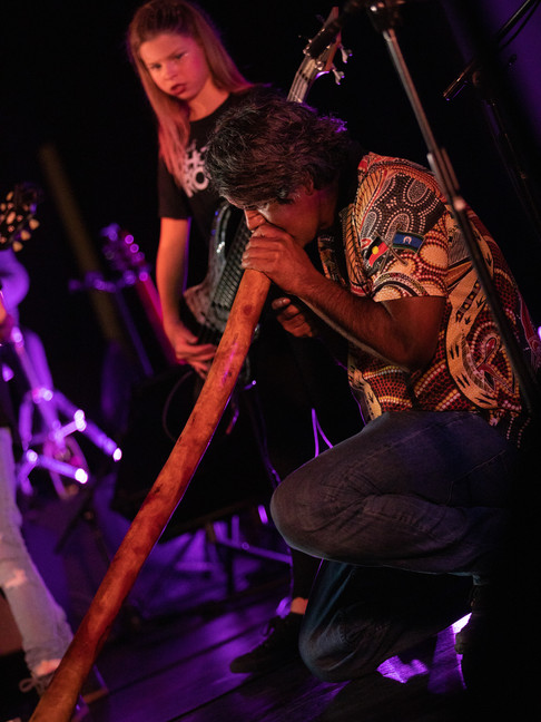 Welcome to Country Didgeridoo performance by local Lyndon Davis. Photo by Zoe Worth
