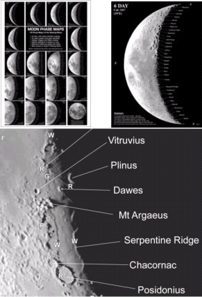 Moon Phase Maps for lunar observers