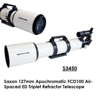 Saxon 127mm Apochromatic FCD100 Air-Spaced ED Triplet Refractor Telescope