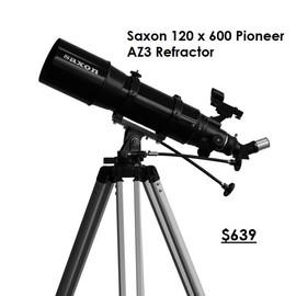 Saxon 120 x 600mm Pioneer AZ3 Refractor