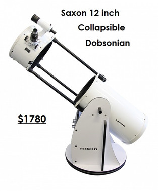 Saxon 12in Collapsible Dobsonian Telescope