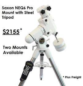 Saxon NEQ6 Pro Mount with Steel Tripod -