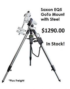 Saxon EQ5 GoTo Mount with Steel Tripod -