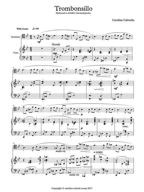 """""""Trombonsillo"""" PDF Score and Trombone part."""