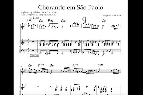 Chorando em sao Paolo - sheet music