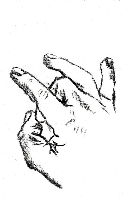 sketch of a hand 8-2016