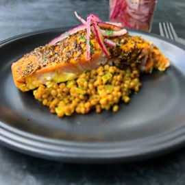 Sumac and Coriander Seed Crusted Salmon