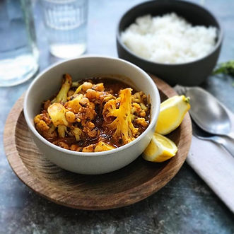 Cauliflower, Potato and Chickpea Curry.
