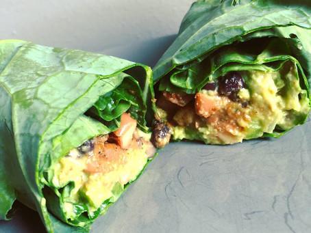 Collard Green Mexican Burrito