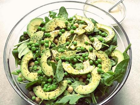 Green Man Salad with Tahini Dressing