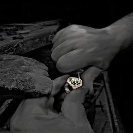 Handcrafted Meteorite Ring 2