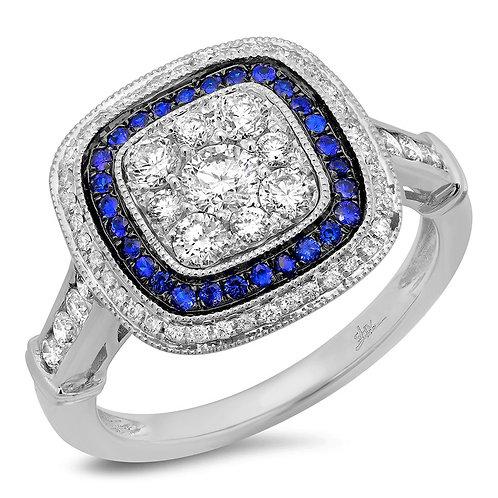Sapphire Deco Ring
