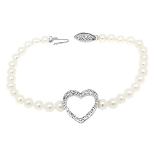 Heart You  Pearl Bracelet