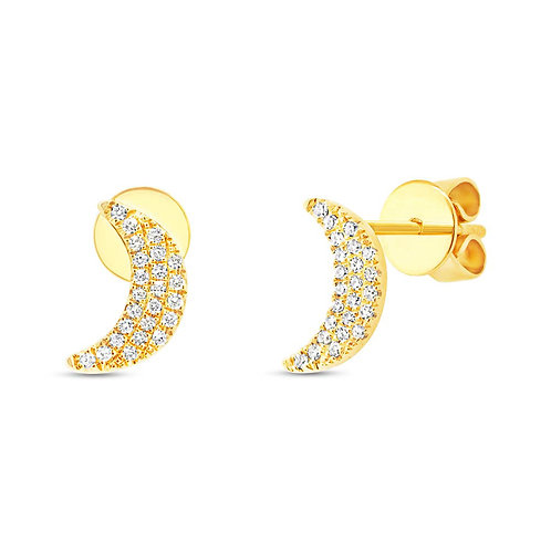 Mini Crescent Lunita Studs