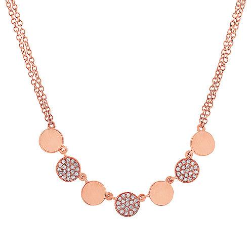 Pavé Disco Mini Necklace