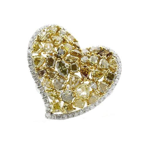 Fancy Diamond Heart Ring