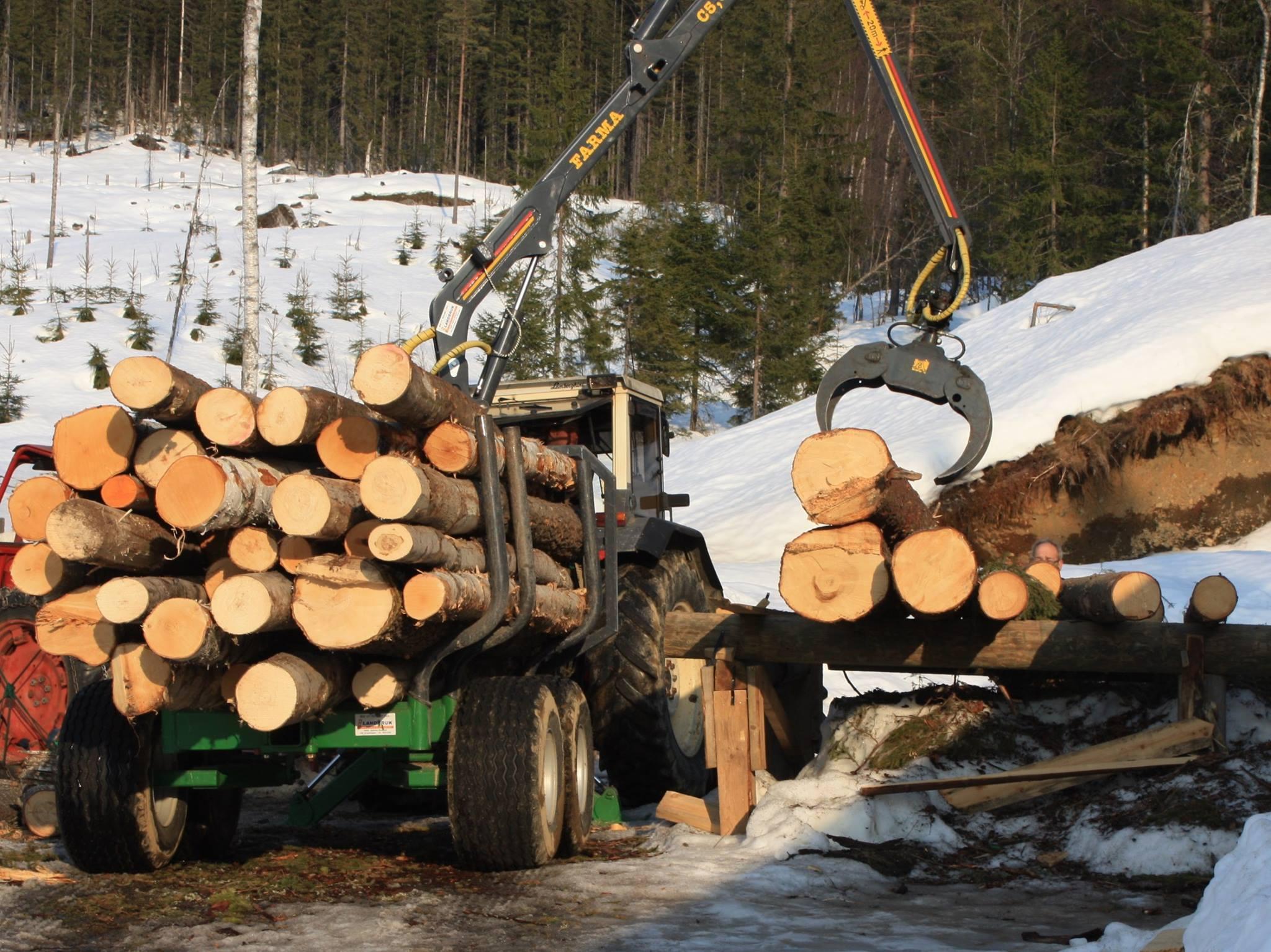 Pålessing av tømmer (privat)