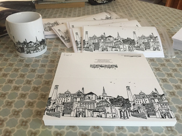 Southampton Skyline Mug & Greetings Card