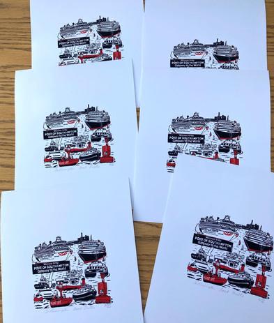 Mini Southampton Boat Shuffle Giclee print